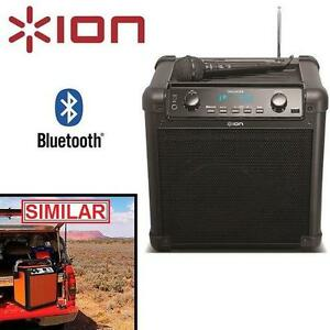 NEW OB ION PORTABLE PA SPEAKER TAILGATER - BLUETOOTH - W/ MIC  AM/FM RADIO - USB CHARGE PORT OPEN BOX 105938284