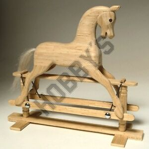 Rocking Horse Miniature Matchstick Model Craft kit by Hobby's
