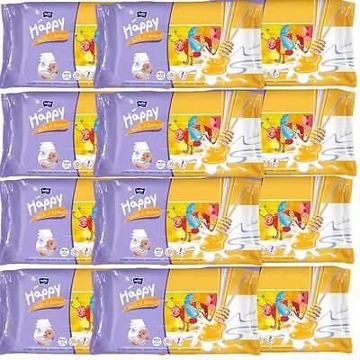 12er Mega Pack Bella Baby Happy Feuchttücher Milch & Honig 12 x 64 St.