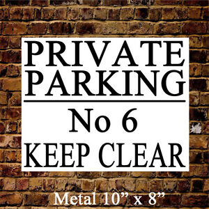 PERSONALISED LARGE METAL PRIVATE NO PARKING KEEP CLEAR SIGN WATERPROOF