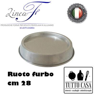 RUOTO FURBO STAMPO TORTIERA FONDO RIALZATO CM 28 ALLUMINIO