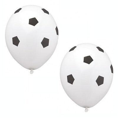Fussball Dekoration Luftballons, 8 Partyluftballons für Fußball Party Deko