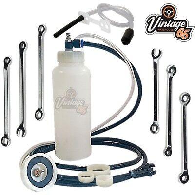 Classic Car Van Master Brake Bleed Kit + Cylinder Drum Caliper Bleed Spanner Set Brake Bleeding Master Set