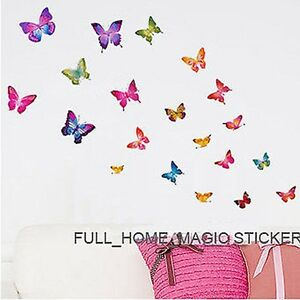 21-Colourful-Butterflies-Wall-Art-Stickers-Wall-Decal-Home-Decoration-Girls-Room