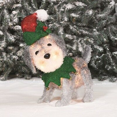"Christmas Lighted Outdoor Decoration 22"" Dog Yard Home Lawn Backyard Xmas Decor"