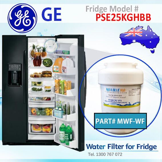 GE Fridge PSE25KGHBB Compatible Replacement MWF (WF) Aqua Blue H2O Water Filter