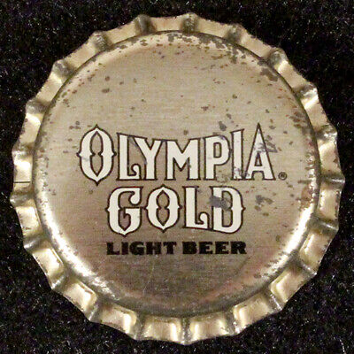 OLYMPIA GOLD PLASTIC BEER BOTTLE CAP #12 TUMWATER WASHINGTON OLY CROWN~~~VINTAGE