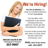 We're Hiring for our busy Spa ....