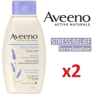2 NEW AVEENO BODY WASH 354ML EACH 210794682 Stress Relief Calms  Relax while moisturizing skin