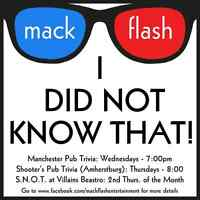 Mack Flash Trivia - Every Wednesday - The Manchester Pub