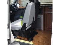 VOLKSWAGEN T5 T6 TRANSPORTER CARAVELLE DOUBLE SWIVEL SEAT BASE UK MADE