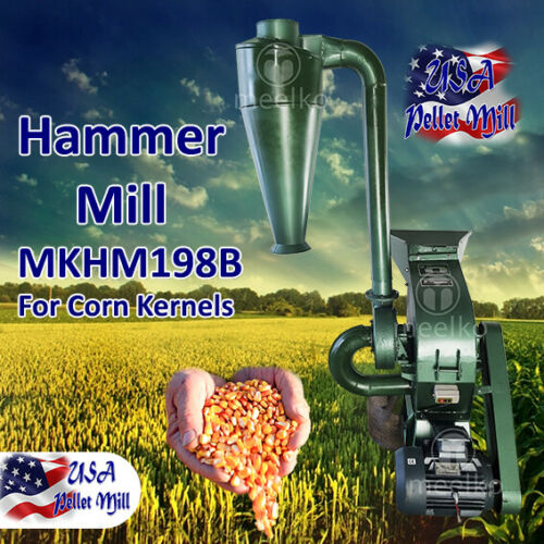 Electric Hammer Mill for Corn Kernels - MKHM198B