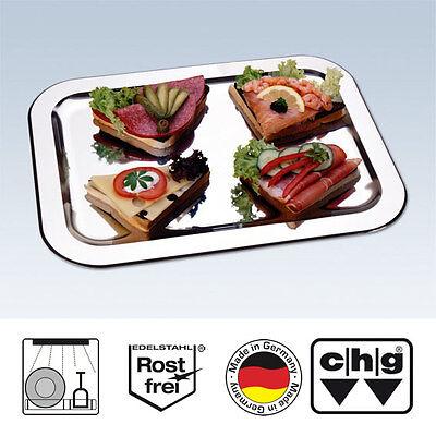 CHG Schlemmerplatte Servierplatte Anrichtplatte Edelstahl - groß