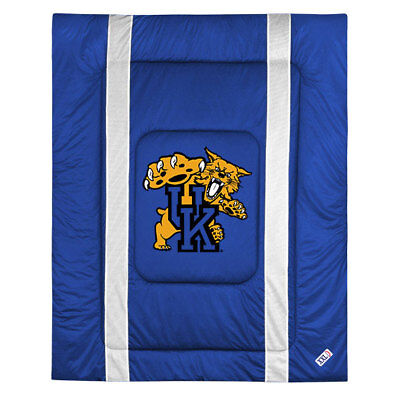 Wildcats Ncaa Bedding - NCAA Kentucky Wildcats Twin Size Comforter - College Sidelines Team Logo Bedding