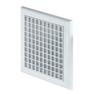 Air Vent Grille With Shutter 190mm X 190mm Exterior Wall Ventilation Cover TP