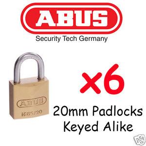 Padlocks KEYED ALIKE ABUS 20mm  x6  BULK LOT High quality