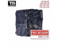 BLACK GRANITE COBBLES / SETTS – PAVING, EDGING, DRIVEWAYS, PATHS AND PATIOS STONES