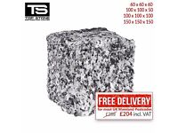Granite Setts Silver/Grey Paving Stones for Driveways, Paths & Patios 4,8m2/ pack £22.67/m2 Free P&P