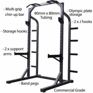 Pro Grade Half Power Rack FL50 Squat Rack Bench Press Chin Ups Revesby Bankstown Area Preview