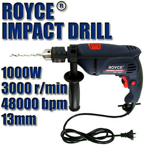 NEW ROYCE 1000w 13mm KEYED CHUCK IMPACT HAMMER DRILL POWER TOOL