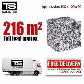 Granite Setts Cobbles £22 / m2 - DELIVERED! 216 m2 / Pack / 24 tonnes PAVING