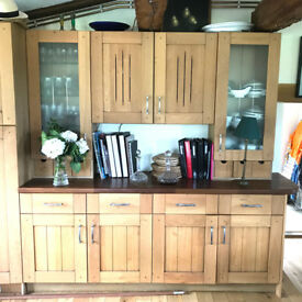 Solid Hardwood Kitchen Unit.