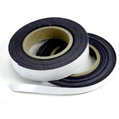 Self Adhesive Magnetic Tape Flexible Craft Sticky Magnet Strip Width 125-25mm