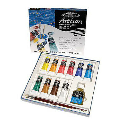 Winsor & Newton Artisan Water Mixable Oil Studio Box Set. Artists Paint Set