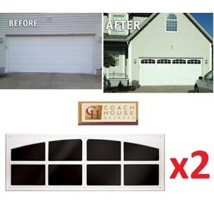 """NEW GARAGE DOOR SIMULATED WINDOWS AP143199 199425547 COACH HOUSE ACCENTS 45.25"""" TWO WINDOW PACK"""