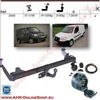 Gancio di traino fisso Nissan Qashqai +2 2007-2014 7poli kit elettrico spec