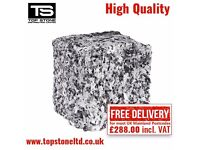 GRANITE SETTS SILVER GREY PAVING COBBLES FOR DRIVEWAYS PATHWAYS AND PATIOS