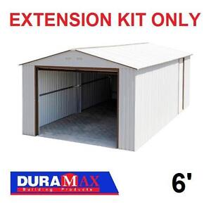 NEW*DURAMAX IMPERIAL SHED EXTENSION - 121335649 - 6' EXTENSION KIT ONLY OFF WHITE BROWN TRIM SHEDS STORAGE UTILITY ME...