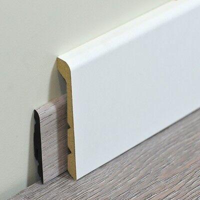 Renovierungsleiste   Abdeckleiste 92 x 42 mm   Weiß foliert   kürzbar 3 Höhen