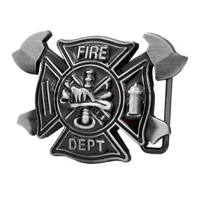 Fire Department Belt Buckle biker tattoo trucker Vintage Firefighter - Firefighting Tattoos
