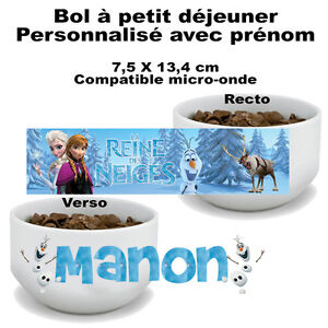 bol petit d jeuner reine des neiges v1 personnalis avec pr nom mug tasse ebay. Black Bedroom Furniture Sets. Home Design Ideas