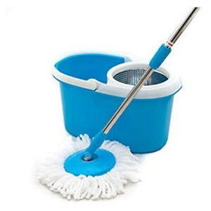 Magic Spin Mop Blue Or Green With Stainless Steel Spin Bucket