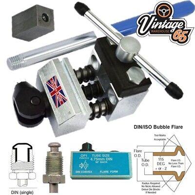 Bubble Flare Kit (Professional Brake Pipe Flaring Tool 4.75mm DIN Metric Single Male Bubble Flares)