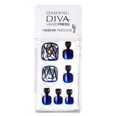Dashing Diva Full Cover Gel Pedicure Tips Easy to attach without Glue MDR_006P