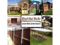 Gazebo, Shelter, Wooden Structure, Lean too, Also bird table bench pergola arch fish pond shed fence