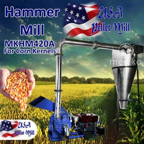 Electric Hammer Mill for Corn Kernels - MKHM420A