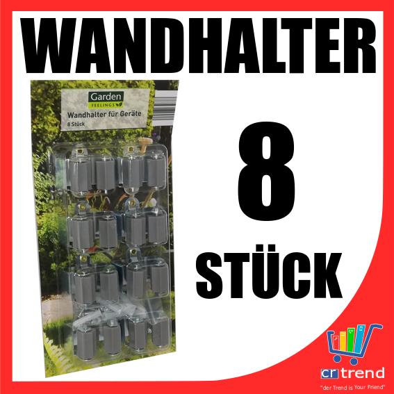 Clip Wandhalter für Besen Schaufel Stiel Haus- Gartengeräte Halterung 8 Stück