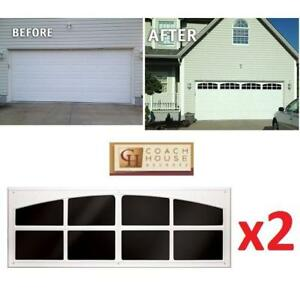 "NEW GARAGE DOOR SIMULATED WINDOWS AP143199 199425547 COACH HOUSE ACCENTS 45.25"" TWO WINDOW PACK"
