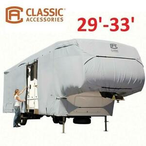 NEW PERMAPRO TRAILER COVER 80-318-171001-RT 246161445 29 TO 33 HEAVY DUTY CLASSIC ACCESSORIES RV 5TH WHEEL COVER