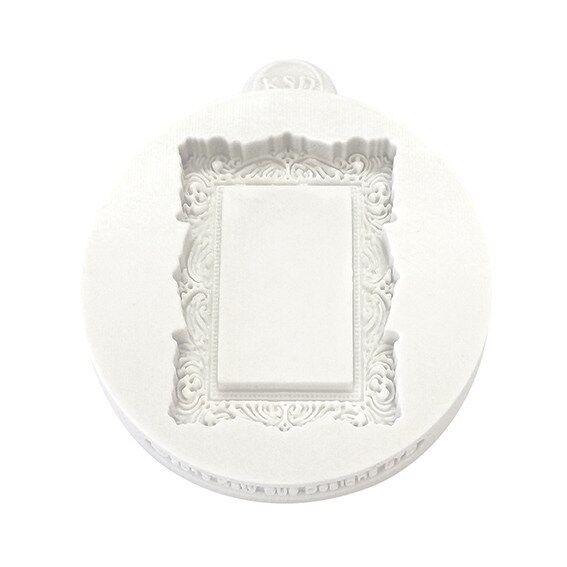 Katy Sue VINTAGE RECTANGLE Miniature Frames silicone mould cake sugarcraft