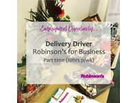 Delivery Driver (Mon & Tues 8am-1pm)