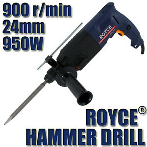 ROYCE 950W 24MM 3 MODE ELECTRIC IMPACT HAMMER DRILL 6 DRILLS SET POWER TOOL