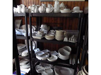 PRICED TO SELL!*HUGE LOT* of new white crockery