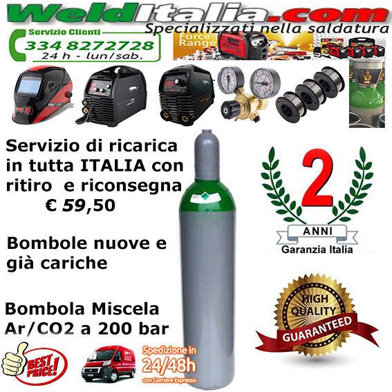 BOMBOLA ARGON DA 5-7-10-14 LT. SALDATRICE A FILO E TIG 200 BAR EE GIA' CARICA