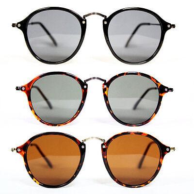 Sonnenbrille filigran rund Nostalgie Klarglas Hornbrille schwarz tortoise 43
