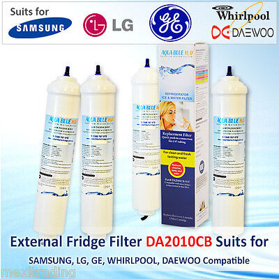 4Pack REFRIGERATOR EXTERNAL WATER FILTER GENERAL ELECTRIC GENERIC DA2010CBWF